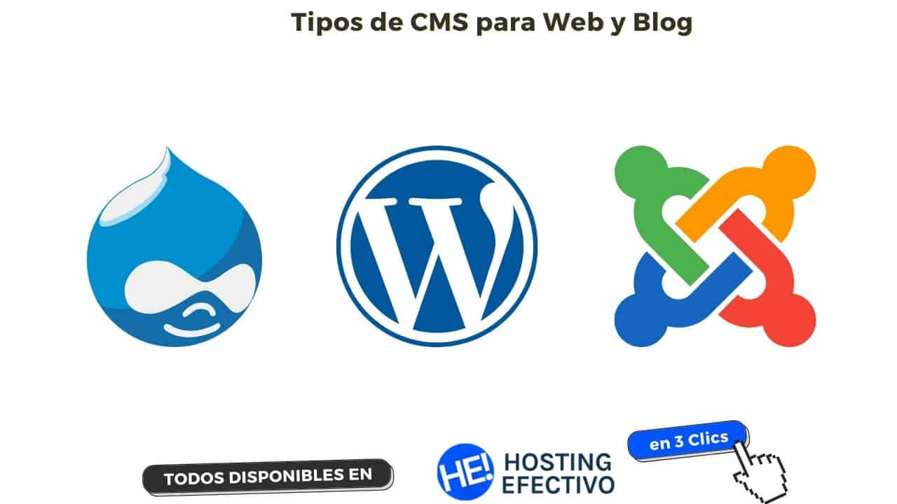 Tipos de CMS para crear Sitios Web y Blogs